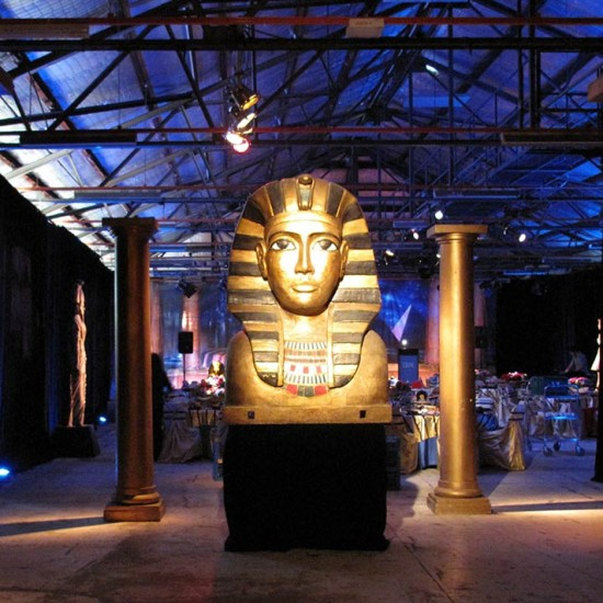 Opera Australia – The Sphinx confronted visitors in the hall leading to the Egyptian-themed venue